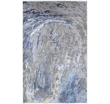 Eko Heritage 626 Grey Blue Gri Mavi Yün ve Viskon Karışımlı Halı Kapak Resim