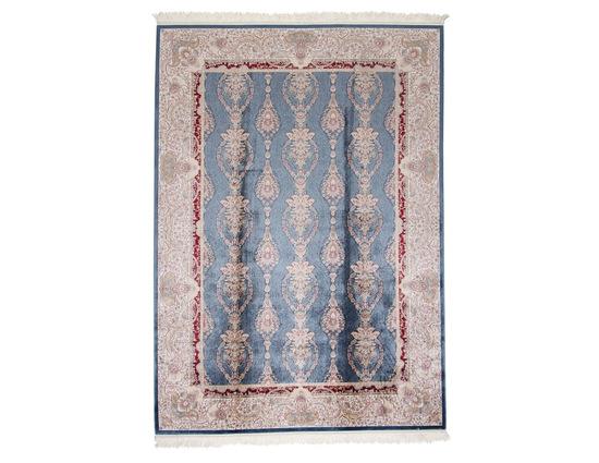 Sanat Milat Hereke 1517 Mavi Bambu İpek Halı Kapak Resim