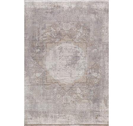 Woolknot Craft MT040 Gri Beyaz Viskon Halı Kapak Resim