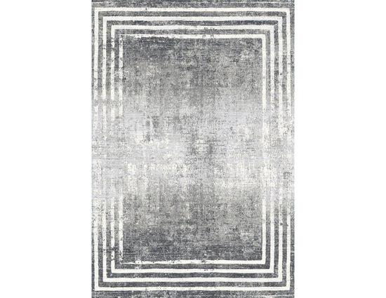 Woolknot Craft MT188 Gri Antrasit Viskon Halı Kapak Resim