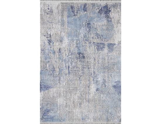 Woolknot Gordion B173E Krem Mavi Viskon Halı Kapak Resim