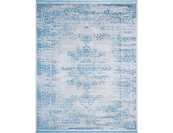 Angora Rustik 3950D Mavi Viskon Halı Kapak Resim
