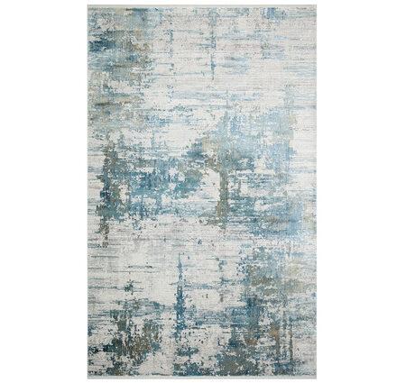 Eko Fresco FS01 Grey Blue XW Gri Mavi Bambu Halı Kapak Resim