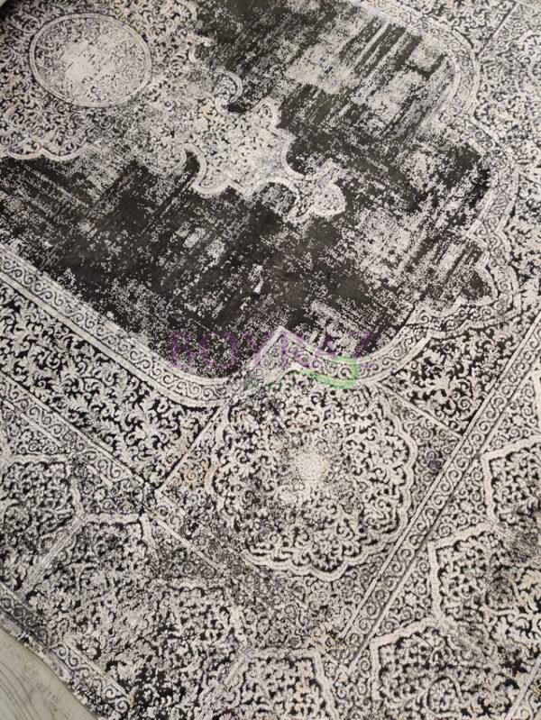 Woolknot Overdye Dark Grey 1903 Koyu Gri Viskon Halı Tepeden Çekim