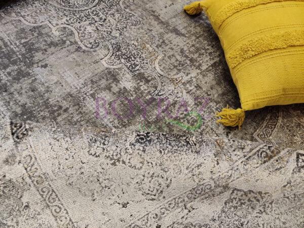 Woolknot Craft MT095 Gri Viskon Halı Dekorlu Çekim