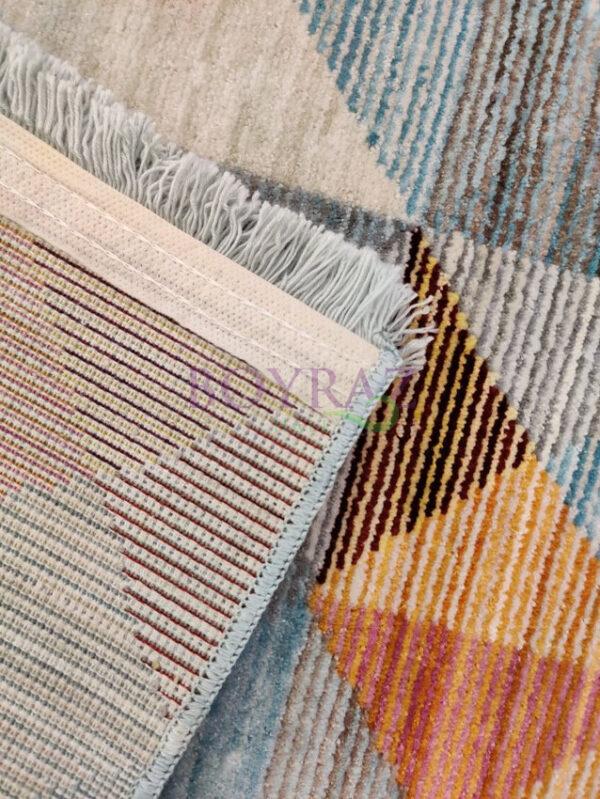 Tuğra Brooklyn 5118 Renkli Modern Polyester Halı Taban Çekim