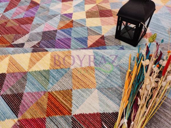 Tuğra Brooklyn 5118 Renkli Modern Polyester Halı Dekorlu Çekim