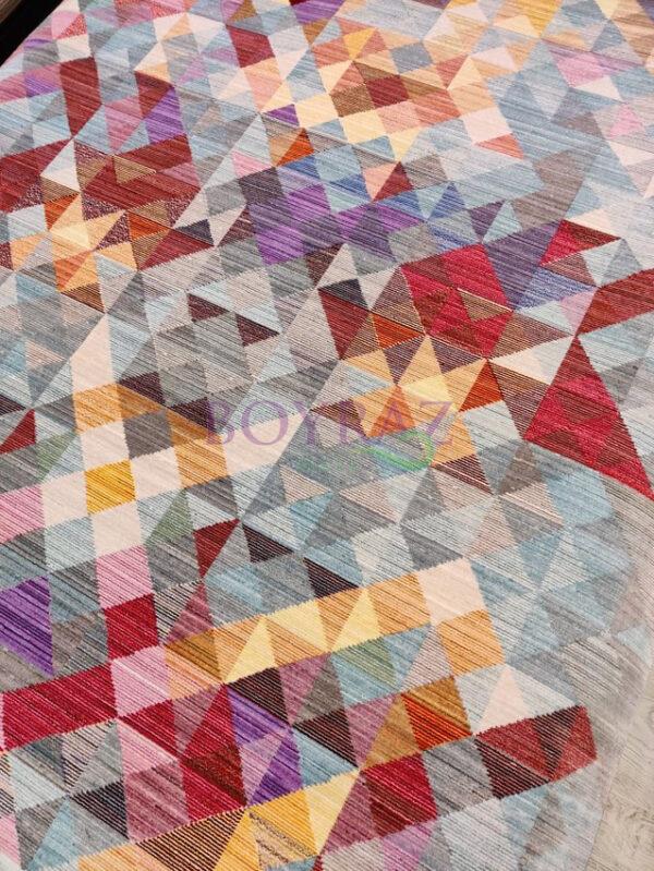 Tuğra Brooklyn 5118 Renkli Modern Polyester Halı Tepeden Çekim