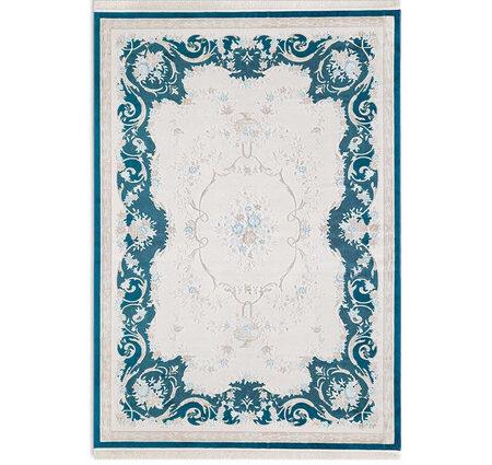 Angora Premium 1648M Mavi Viskon Halı Kapak Resim