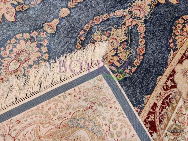 Sanat Milat Hereke 1517 Mavi Bambu İpek Halı Taban Çekim