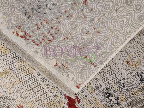Artemis Couture 0831A Kırmızı Gri Viskon Halı Taban Çekim