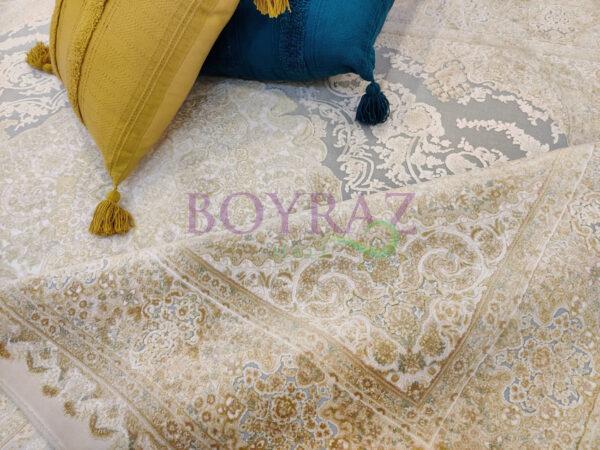 Sanat Elexus Milat Semerkant 1761 Sarı Turkuaz Bambu Halı Dekorlu Çekim