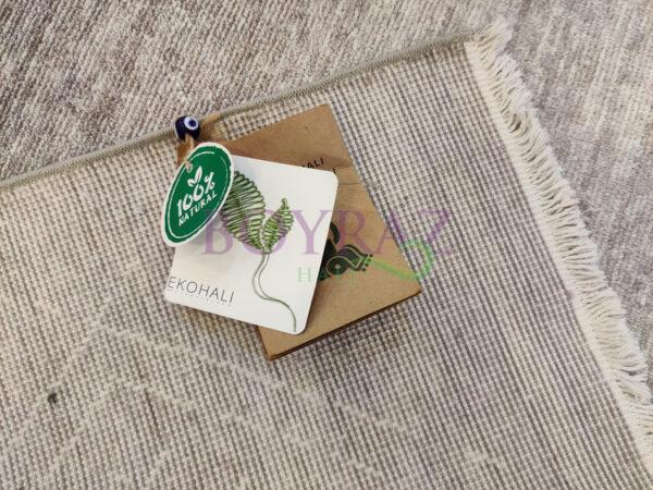 Eko Mystic MS 01 Stone Grey Gri Naturel Viskon Halı Taban Çekim
