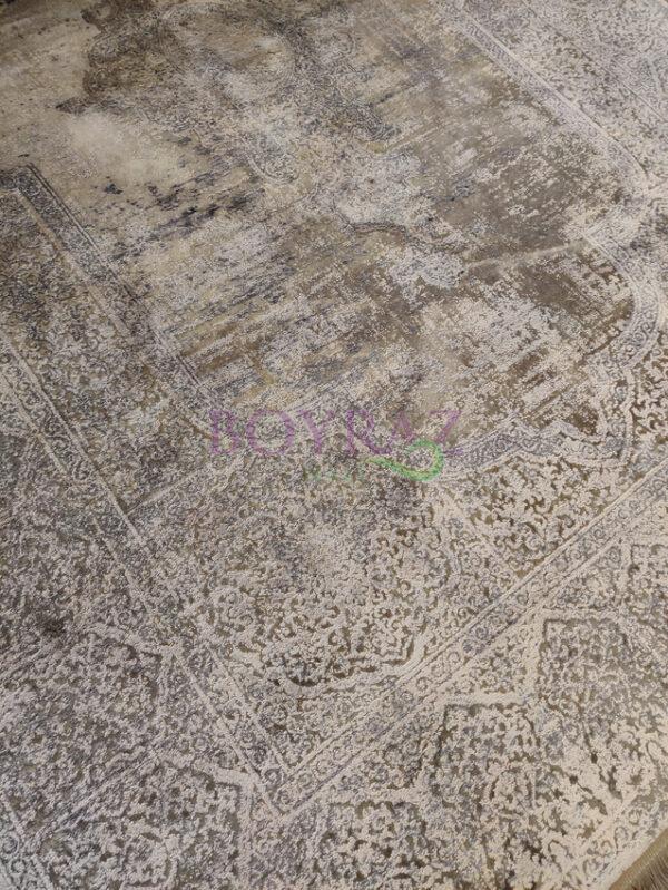 Woolknot Overdye MT996 Mink 528 Viskon Halı Tepeden Çekim