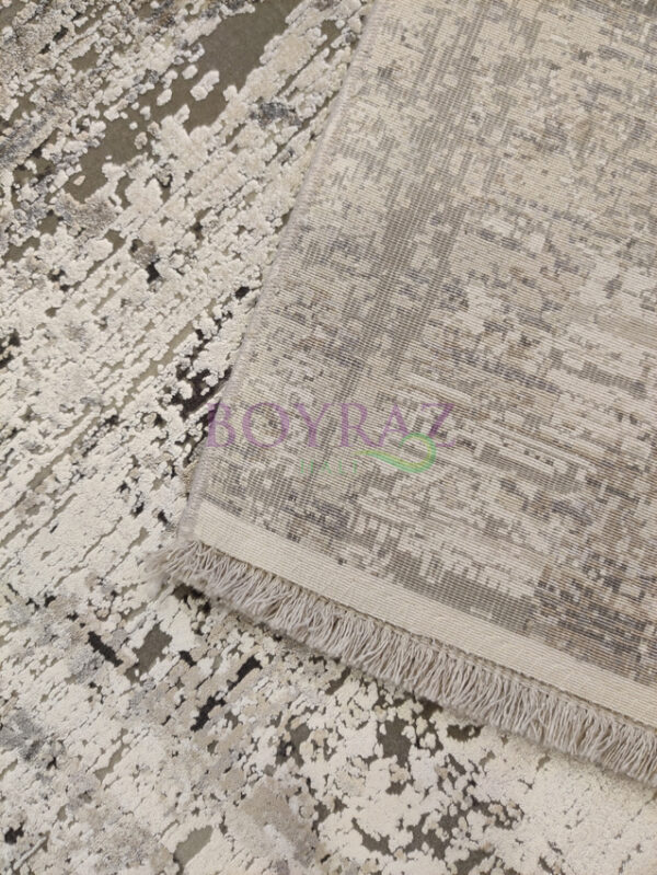 Woolknot Craft MT177 Gri Viskon Halı Taban Çekim