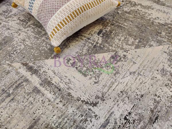 Woolknot Craft MT177 Gri Viskon Halı Dekorlu Çekim