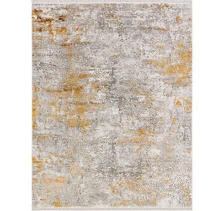 Angora Impressive 8493T Gri Sarı Viskon Halı Kapak Resim