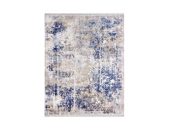 Angora Impressive 9027V Gri Mavi Viskon Halı Kapak Resim