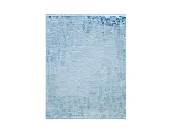 Angora Rustik 8193K Mavi Viskon Halı Kapak Resim