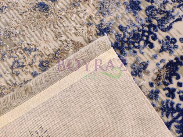 Angora Impressive 9027V Gri Mavi Viskon Halı Taban Çekim