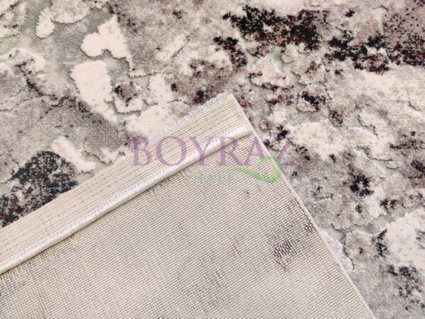 Angora Massimo 8605Y Gri Lila Akrilik Halı Taban Çekim