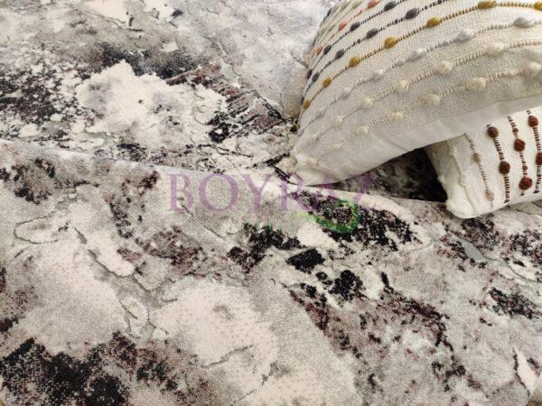 Angora Massimo 8605Y Gri Lila Akrilik Halı Dekorlu Çekim