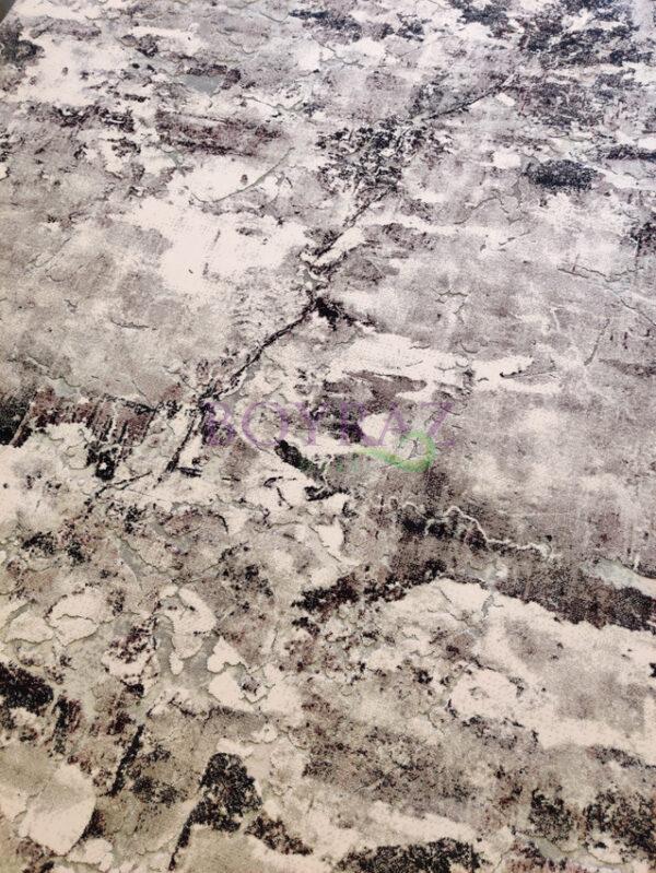 Angora Massimo 8605Y Gri Lila Akrilik Halı Tepeden Çekim