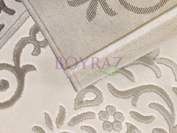 Angora Nirvana 3102B Krem Kahve Akrilik Halı Taban Çekim