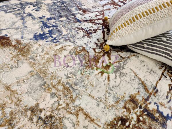Angora Impressive 8408M Renkli Viskon Halı Dekorlu Çekim