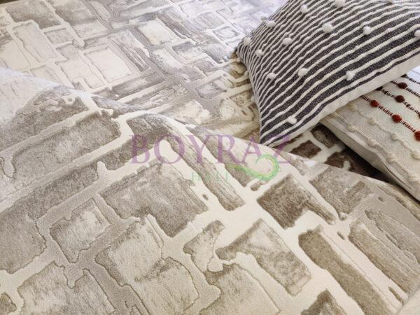 Angora Bohem 8221C Bej Krem Akrilik Halı Dekorlu Çekim