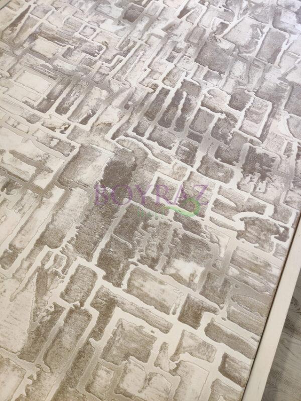 Angora Bohem 8221C Bej Krem Akrilik Halı Tepeden Çekim